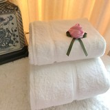 Genuine pure cotton with thick bath towel towel / plus / Hong Kong five-star Ritz-Carlton Hotel soft absorbent water