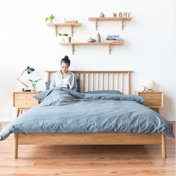 橡木创意床