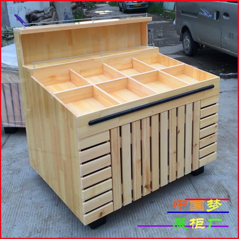 干果货架杂粮展柜实木休闲食品柜台零食糖果架木质水果展示柜
