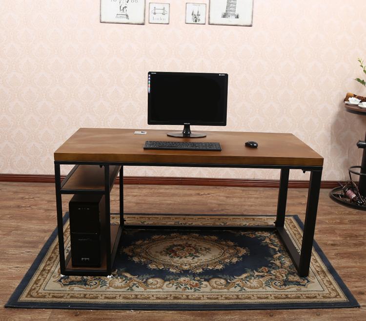 宜家原木电脑桌
