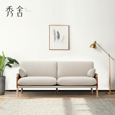 北欧布艺沙发简约现代风格小户型实木客厅组合整装家具2018新款