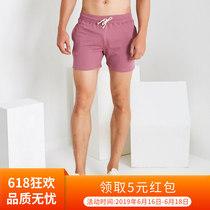 夏季纯色纯棉三分裤男 超短裤大码修身弹力运动短裤健身跑步3分裤