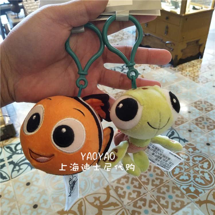 上海迪士尼樂園 海底總動員小丑魚尼莫海龜毛絨公仔鑰匙扣包掛件