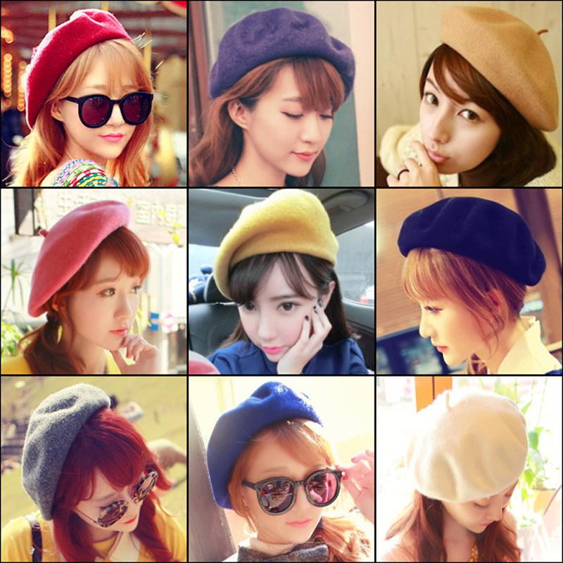 冬季毛线帽子