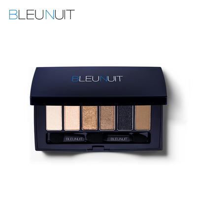 BLEUNUIT/深蓝彩妆蝶舞星光眼彩盒粉盘6色 裸妆 大地色 防水 自然