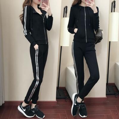 运动套装女2017新款春秋季韩版休闲长袖卫衣跑步运动服女装两件套