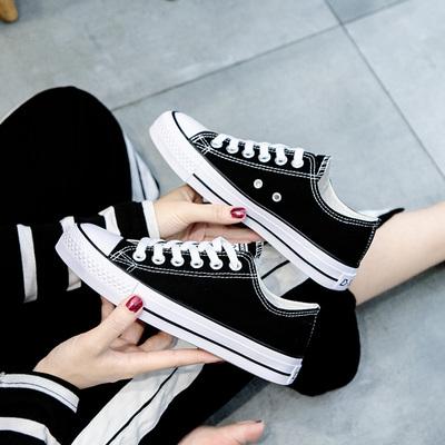经典帆布鞋女百搭小白鞋学生平底板鞋ins韩版原宿港风ulzzang布鞋