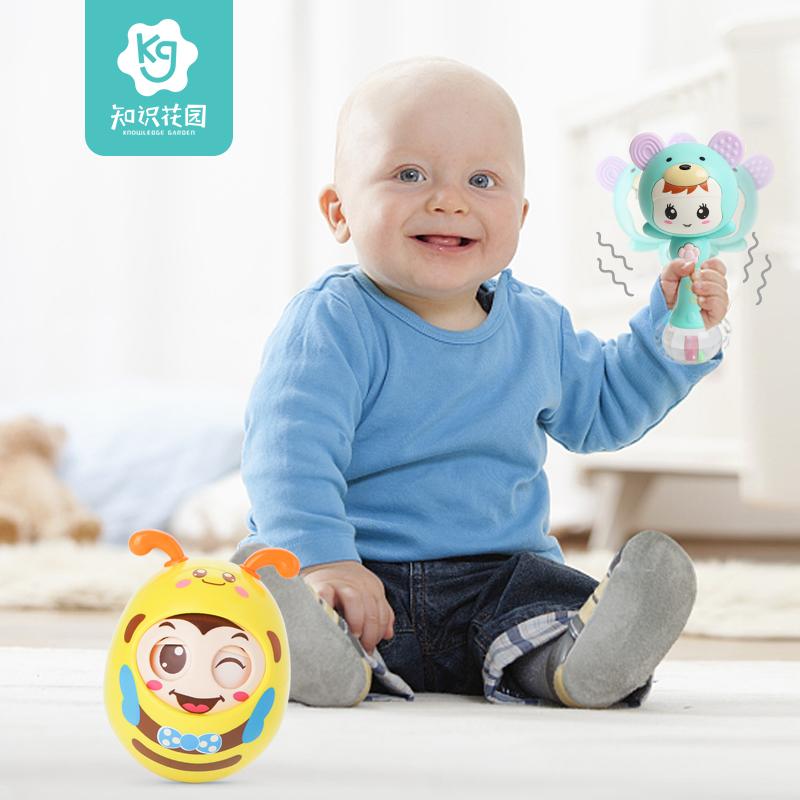 知识花园婴儿摇铃0-1岁宝宝牙胶玩具儿童女益智手摇铃音乐节奏棒