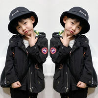 Children's Jackets Boys and Girls Children's Children's Windbreaker Jacket Spring and Autumn Short Jacket Outdoor Big Goose Kids