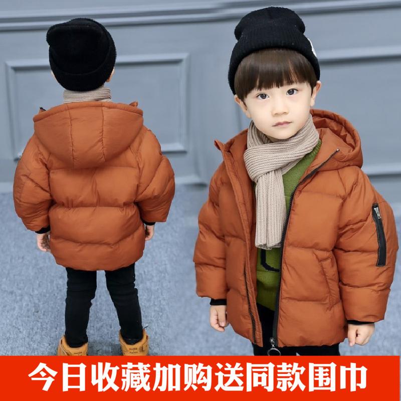 上新男童棉服2017新款韩版短款加厚冬装宝宝秋冬羽绒棉外套小儿童