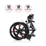 折叠电动山地车成人代步锂电自行车代驾迷你助力电瓶碟刹改装单车