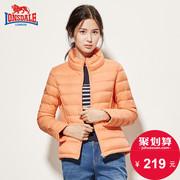 龙狮戴尔轻薄羽绒服女士短款韩版修身外套冬季新款保暖羽绒衣时尚