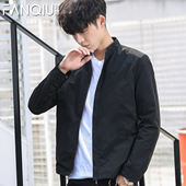 春秋新款潮流男士外套薄修身休闲韩版立领青年男夹克帅气男装上衣