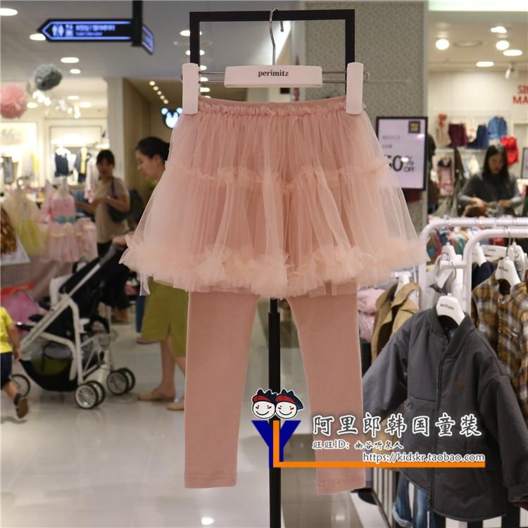 六折韩国代购Perimitz2018新款秋季裤女童韩版洋气女童打底裤裤裙