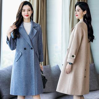 2018新款毛呢外套冬装女装中长款少妇女装适合25-29-30-35到40岁