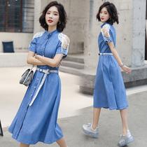 2019新款夏装连衣裙大码修身夏季少妇女装适合25至29-30-35到40岁