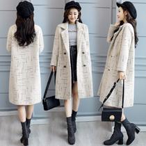 20-25-30-35-40岁45适合中年妇女冬季穿的大码长袖呢子大衣外套潮