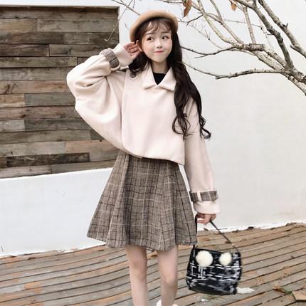 女神范御姐套装裙洋气赫本风套装连衣裙女秋冬网红两件套俏皮冬季