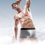 Playboy Men's Underwear Men's Flat Pants Ice Filament Breathable Summer Men's Large Quarter Thin Pants Head Summer