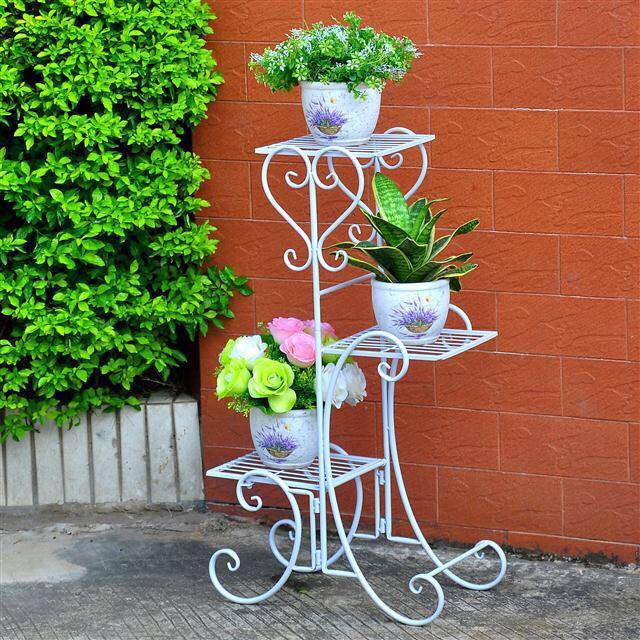 盆栽绿萝室内花架