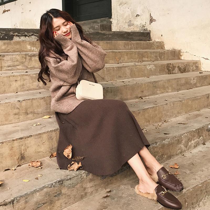 韩版套裙女