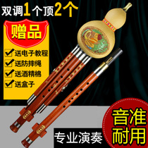 C tune gourd wire double tune professional play hand carving relief Drop B tune instrument Yunnan other brand children