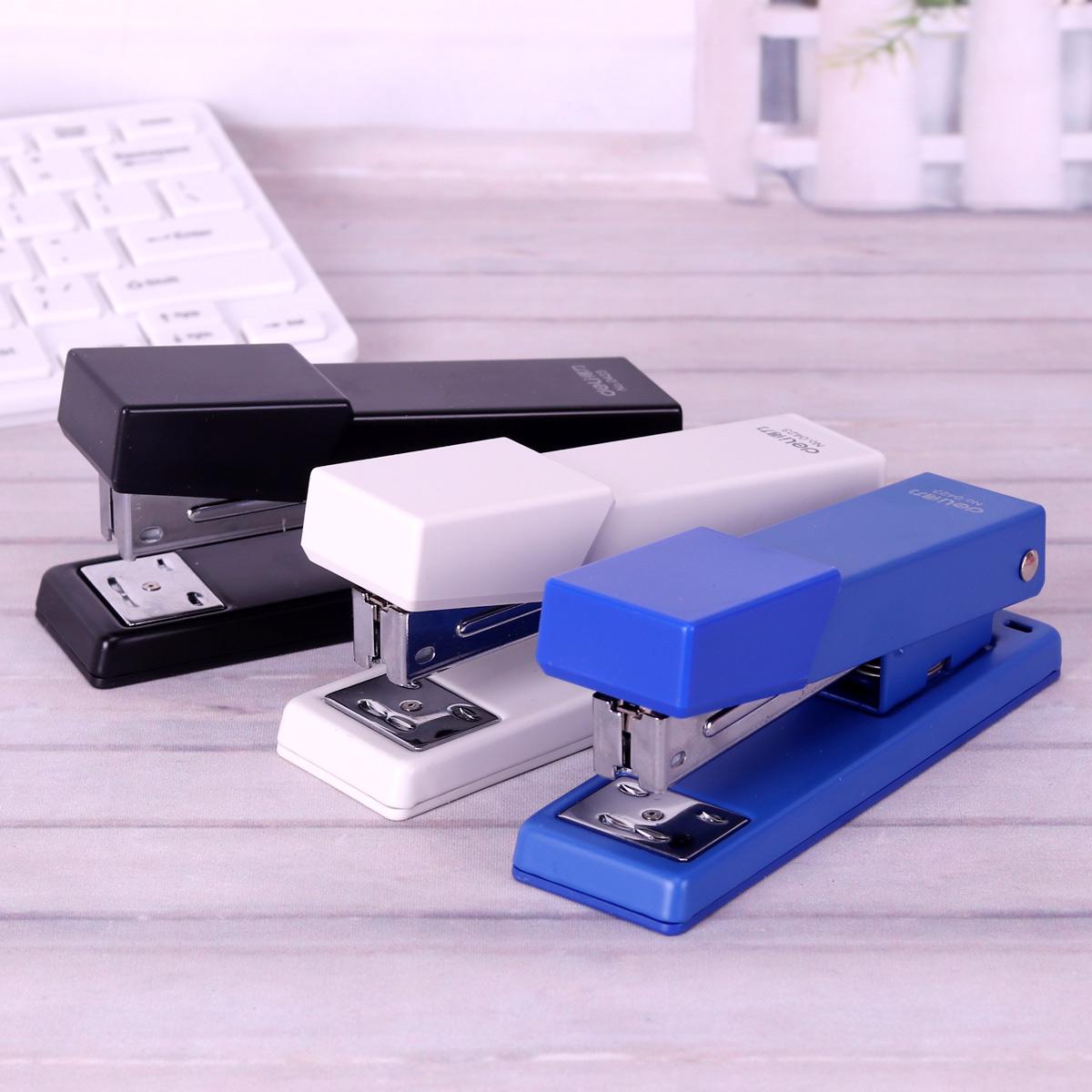 得力文具订书机 12#中号订书器商务办公大号装订器标准12号钉包邮