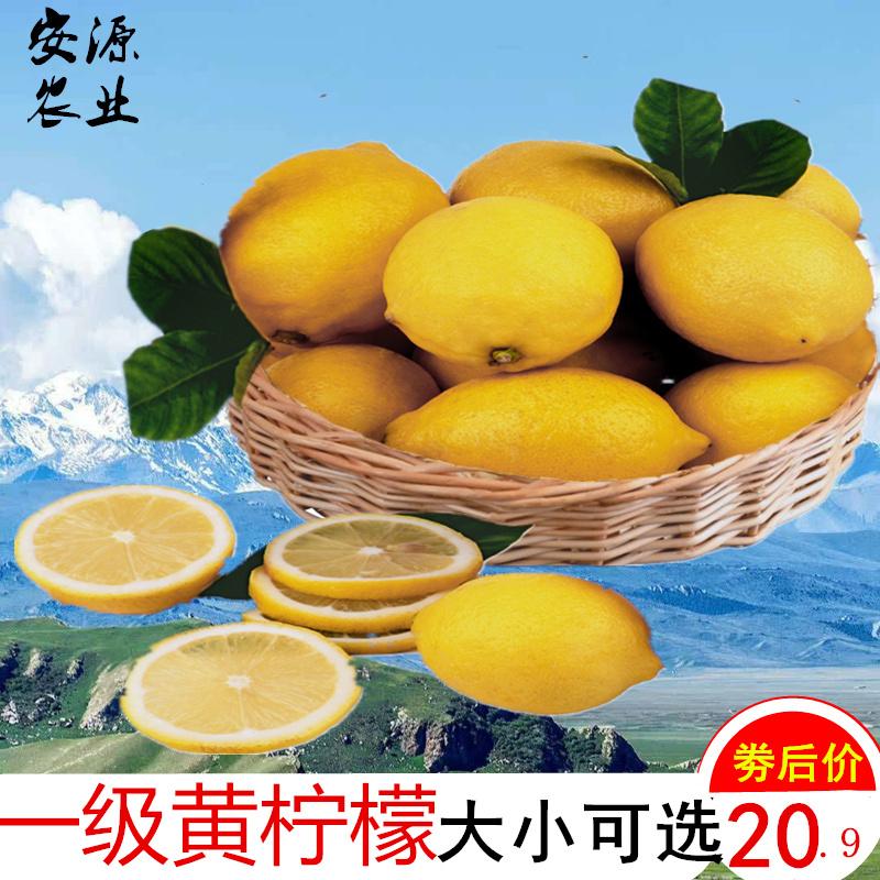 安源安岳黄柠檬新鲜水果一二级皮薄多汁当季特产现摘现发特价包邮