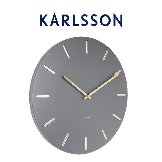 荷兰 KARLSSON Wall Clock Charm 简约现代金属挂钟钟饰45cm三色