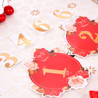 Marriage wedding supplies wedding table card table card decoration wedding banquet digital post card place sign board table number plate