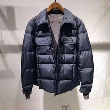Men 2018 Winter Fashion Short Style Young Handsome Turn-collar 90 White Duck Down Jacket Overcoat Chao Brand Down Dress