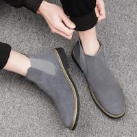 马丁靴男加绒冬季棉鞋男男士皮靴真皮潮流短靴切尔西靴雪地靴男