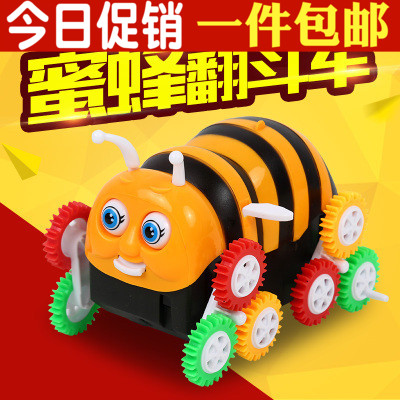 Full 8 yuan shipping new strange toy car bee dump truck automatic flip children's electricity