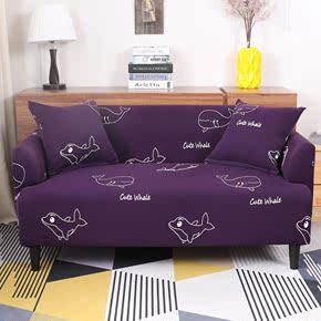 北欧简约时尚沙发垫经典黑白格防滑沙发巾布艺沙发套定做