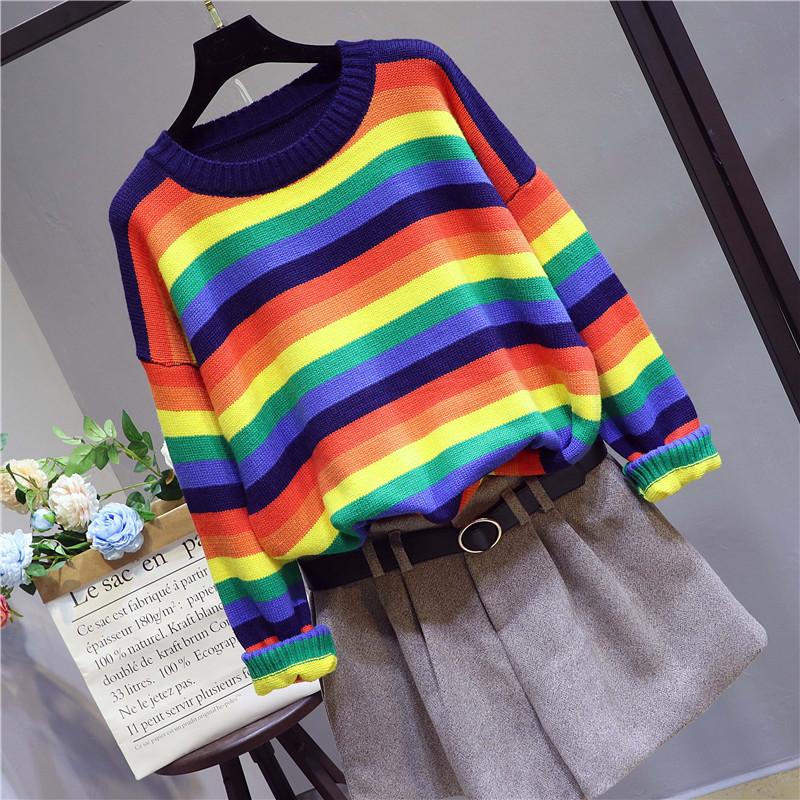 彩色针织毛衣