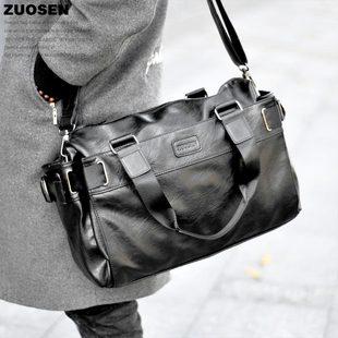 左森ZUOSEN韩版男包休闲包单肩包斜挎包手提包旅行包男士包包潮流