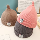 Children's wool hat autumn and winter parent-child hat boys and girls pointed pacifier hat witch hat knitted baby baby hat tide