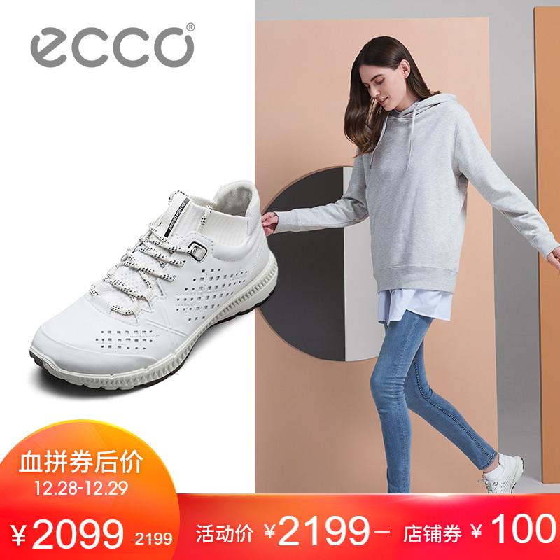 ECCO爱步圆头透气舒适休闲运动系带女鞋跑步鞋 盈速踪迹 861003