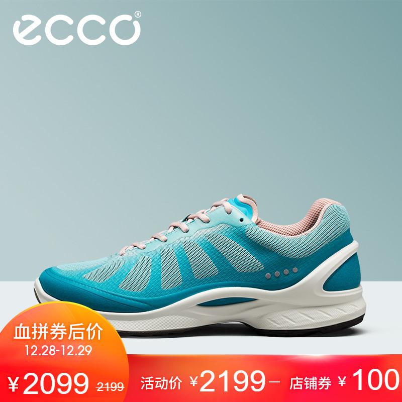ECCO爱步时尚女鞋低跟平底系带运动鞋健步活力健身系列837503