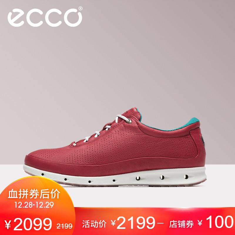ECCO爱步活力户外运动系带女鞋 牦牛皮舒适休闲单鞋 透氧831303