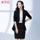 Female professional suite 2019 new fashion temperament suit dress OL ladies beauty salon overalls suit tooling