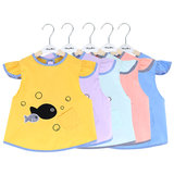 Baby eating smock outside waterproof baby rice pocket summer thin section children's apron boys cotton sleeveless smock
