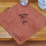 Thickened tea towel water absorption tea cloth tea table cloth kung fu tea towel tea set accessories do not shed hair