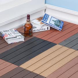 塑木木塑户外地板 阳台浴室庭院DIY花园露台 防腐生态木地砖 新款图片