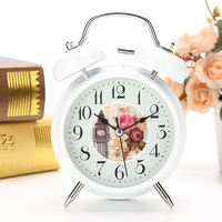 Students use silent bedside creative small alarm clock simple personality children cute cartoon electronic oversized ringtone clock