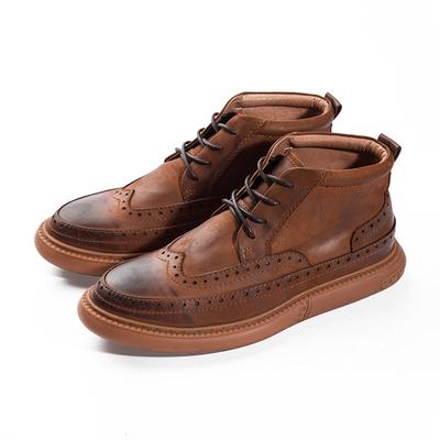 真皮马丁靴男士复古短靴子男鞋英伦休闲韩版潮流百搭高帮军靴冬季