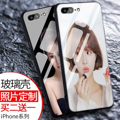 苹果6splus手机壳定制任意机型7玻璃来图定做diy制作8x照片订做p