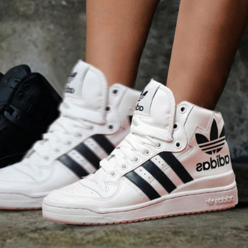 阿迪达斯情侣板鞋2019冬季新款男鞋女鞋小白鞋运动休闲鞋D98191