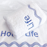 Five-star hotel adult large bath towel to increase thick cotton towel for men and women soft water absorption