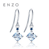 Enzo jewelry classic color treasure 18K gold aquamarine earrings inlaid sapphire fashion mix earrings ear hooks